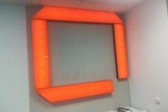 piktogram zplexi kolor ,podświetlany ,modułami LED