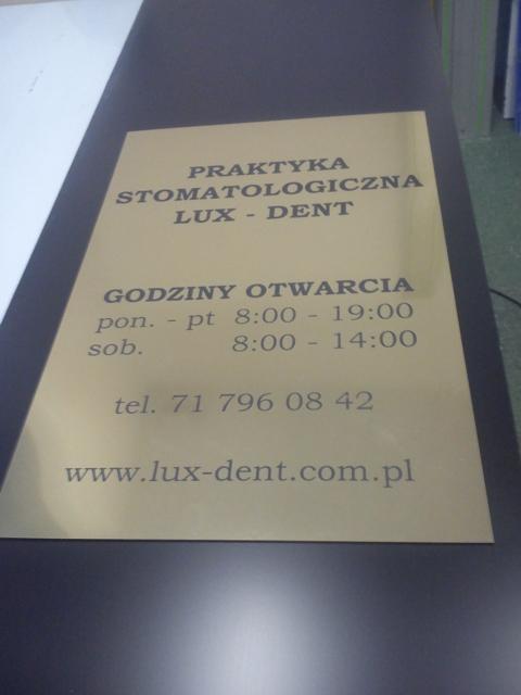 tabliczka info